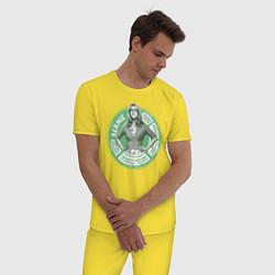 Пижама хлопковая мужская Bernadette цвета желтый — фото 2