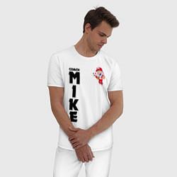 Пижама хлопковая мужская B S COACH MIKE цвета белый — фото 2