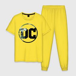 Пижама хлопковая мужская Joker цвета желтый — фото 1