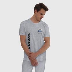 Пижама хлопковая мужская VOLVO цвета меланж — фото 2