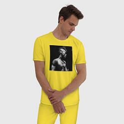 Пижама хлопковая мужская XXXTentacion цвета желтый — фото 2