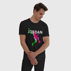 Пижама хлопковая мужская MICHAEL JORDAN Z цвета черный — фото 2