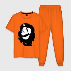 Пижама хлопковая мужская Che Mario цвета оранжевый — фото 1