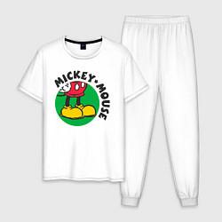 Пижама хлопковая мужская Mickey Mouse цвета белый — фото 1