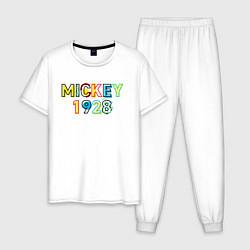 Пижама хлопковая мужская Mickey Mouse 1928 цвета белый — фото 1