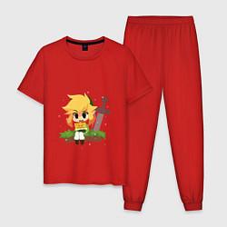 Пижама хлопковая мужская The Legend of Zelda цвета красный — фото 1