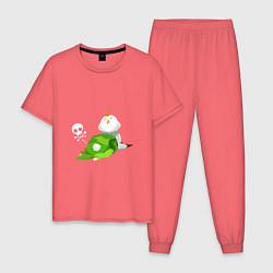 Пижама хлопковая мужская The Legend of Zelda цвета коралловый — фото 1