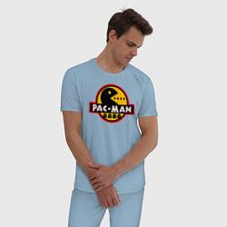 Пижама хлопковая мужская PAC-MAN цвета мягкое небо — фото 2