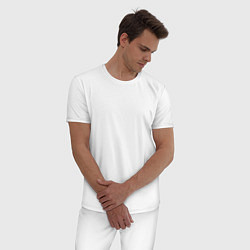 Пижама хлопковая мужская IRON MAIDEN Z цвета белый — фото 2