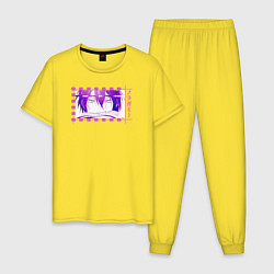 Пижама хлопковая мужская Бездомный бог Ято цвета желтый — фото 1