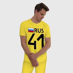 Пижама хлопковая мужская RUS 41 цвета желтый — фото 2