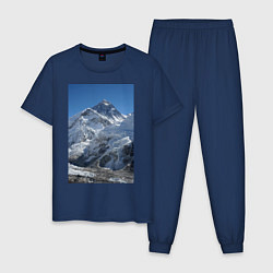 Пижама хлопковая мужская Эверест цвета тёмно-синий — фото 1