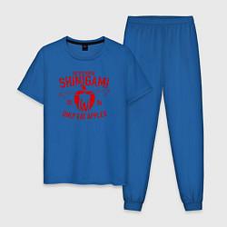 Пижама хлопковая мужская Death Note цвета синий — фото 1