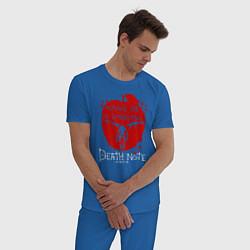Пижама хлопковая мужская Death Note цвета синий — фото 2
