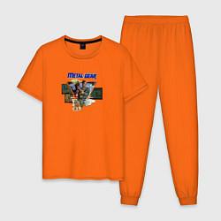 Пижама хлопковая мужская Metal Gear цвета оранжевый — фото 1