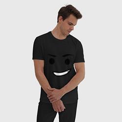 Пижама хлопковая мужская Emmet цвета черный — фото 2