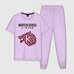Пижама хлопковая мужская Преступность Watch Dogs Legion цвета лаванда — фото 1