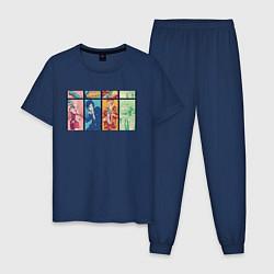 Пижама хлопковая мужская Наруто цвета тёмно-синий — фото 1
