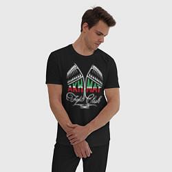 Пижама хлопковая мужская Akhmat Fight Club цвета черный — фото 2