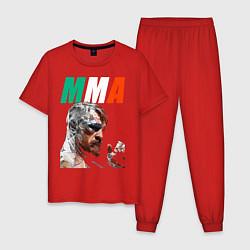 Пижама хлопковая мужская Конор МакГрегор цвета красный — фото 1