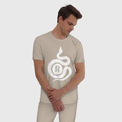 Пижама хлопковая мужская DESTINY 2 цвета миндальный — фото 2
