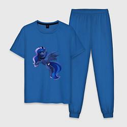 Пижама хлопковая мужская Принцесса Луна цвета синий — фото 1