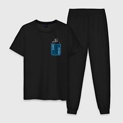 Пижама хлопковая мужская SLAVA MARLOW цвета черный — фото 1