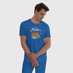 Пижама хлопковая мужская Бэмби цвета синий — фото 2