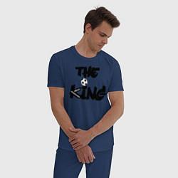 Пижама хлопковая мужская Диего Марадона цвета тёмно-синий — фото 2