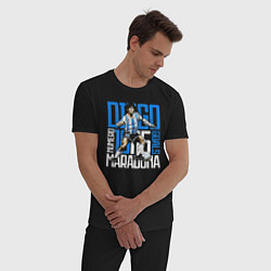 Пижама хлопковая мужская 10 Diego Maradona цвета черный — фото 2