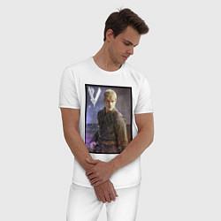 Пижама хлопковая мужская Викинги Бьерн Vikings Bjorn Z цвета белый — фото 2