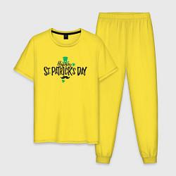 Пижама хлопковая мужская ST Patrick цвета желтый — фото 1