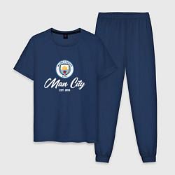 Пижама хлопковая мужская MAN CITY EST 1894 цвета тёмно-синий — фото 1
