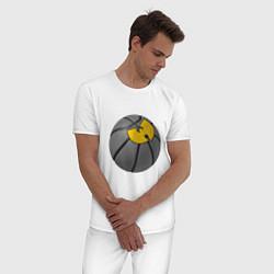 Пижама хлопковая мужская Wu-Tang Basketball цвета белый — фото 2