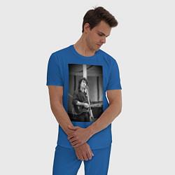 Пижама хлопковая мужская Цой кино цвета синий — фото 2