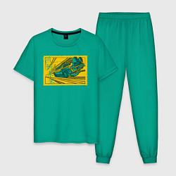 Пижама хлопковая мужская Delorian v 2 цвета зеленый — фото 1