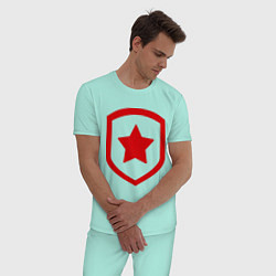 Пижама хлопковая мужская Gambit Symbol цвета мятный — фото 2