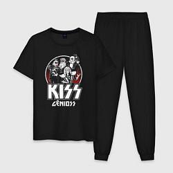 Пижама хлопковая мужская KiSS Logo цвета черный — фото 1