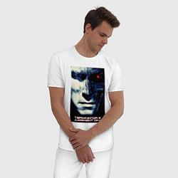 Пижама хлопковая мужская Arnold T-800 цвета белый — фото 2