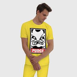 Пижама хлопковая мужская Pudge Poster цвета желтый — фото 2