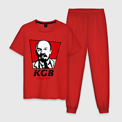 Пижама хлопковая мужская KGB: So Good цвета красный — фото 1
