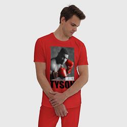 Пижама хлопковая мужская Mike Tyson цвета красный — фото 2