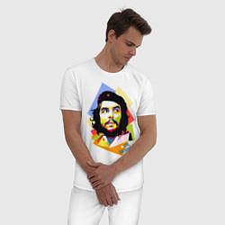 Пижама хлопковая мужская Che Guevara Art цвета белый — фото 2