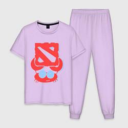 Пижама хлопковая мужская Cancer: Dota 2 Champion цвета лаванда — фото 1