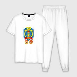 Пижама хлопковая мужская 76 гв. ВДД цвета белый — фото 1