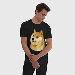 Пижама хлопковая мужская Doge цвета черный — фото 2