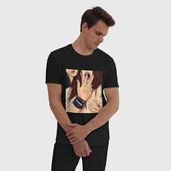 Пижама хлопковая мужская Swag-секси цвета черный — фото 2