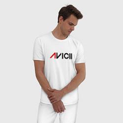 Пижама хлопковая мужская Avicii цвета белый — фото 2
