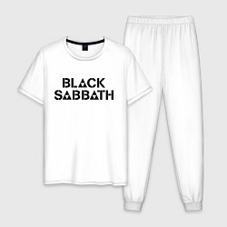 Пижама хлопковая мужская Black Sabbath цвета белый — фото 1