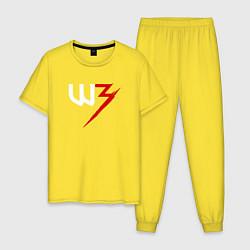 Пижама хлопковая мужская Witcher 3 цвета желтый — фото 1